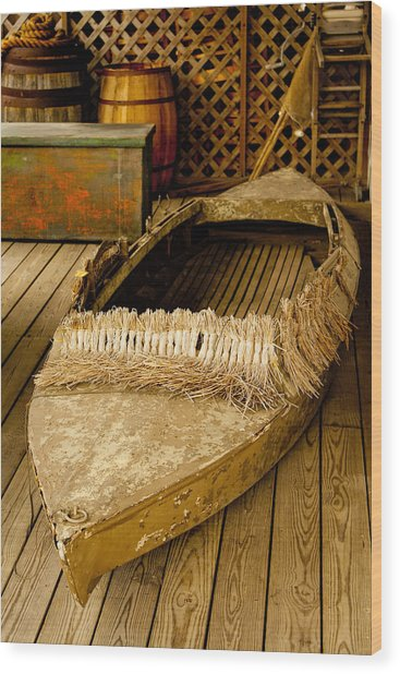 Wood Print featuring the photograph Primitive Duck Skiff by Kristia Adams