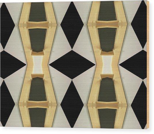 Primitive Graphic Structure Wood Print