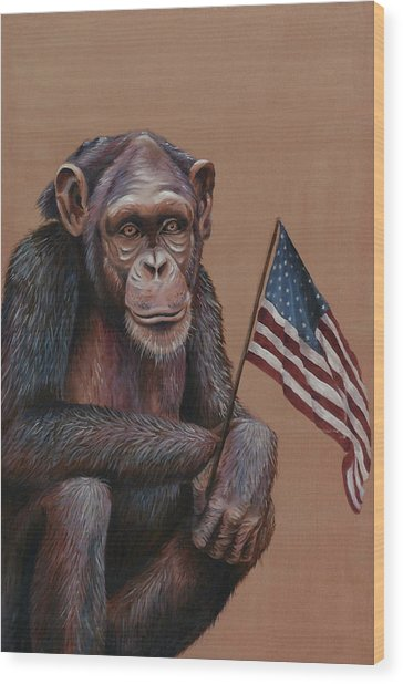 Primitive Patriotism Wood Print