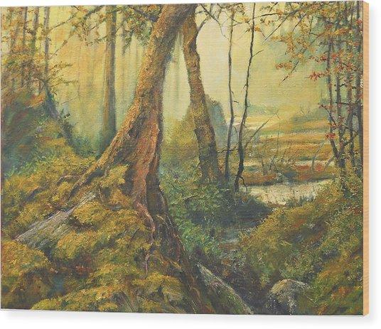 Primordial Exploration Wood Print by Craig shanti Mackinnon