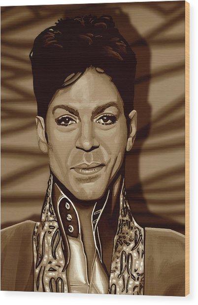 Prince 2 Gold Wood Print