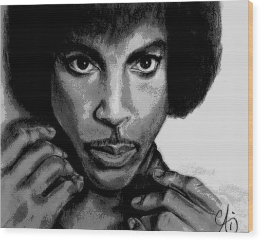Prince Art - Pencil Drawing From Photography - Ai P. Nilson Wood Print