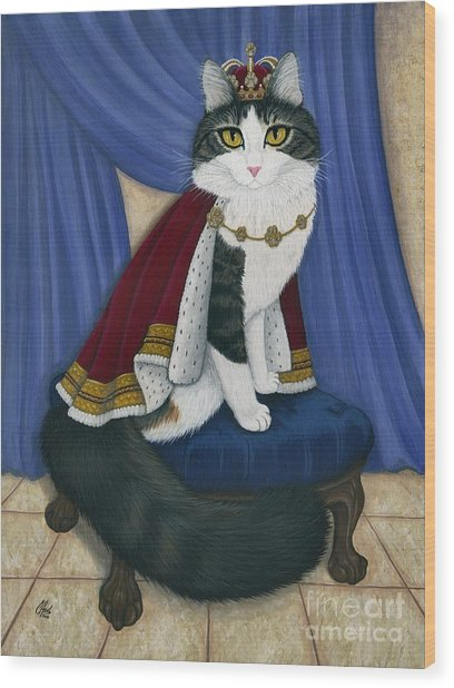 Prince Anakin The Two Legged Cat - Regal Royal Cat Wood Print