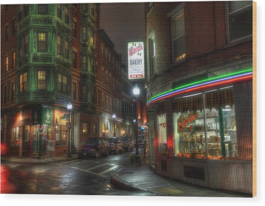 Prince And Salem - North End Boston Wood Print