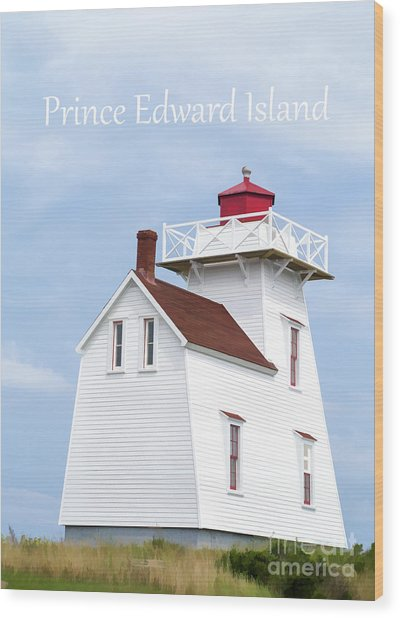 Prince Edward Island Lighthouse Poster Wood Print