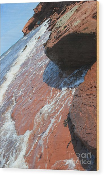 Prince Edward Island Ocean Shore Wood Print