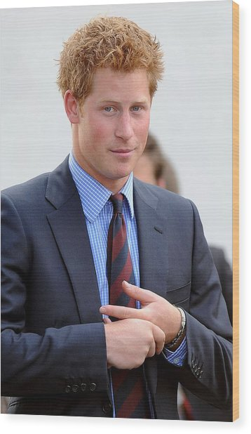 Prince Harry At A Public Appearance Wood Print by Everett