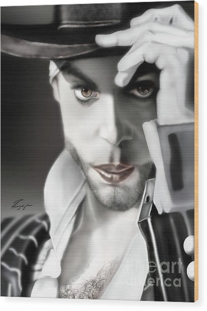 Prince The Eyes Have It 1a Wood Print