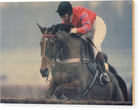 Princess Anne Riding Cnoc Na Cuille At Kempten Park Wood Print