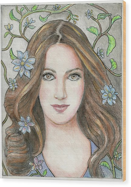 Princess Blue Wood Print