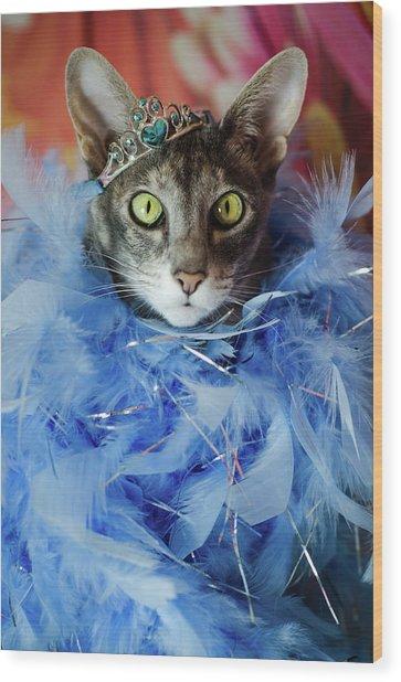 Princess Cat Wood Print