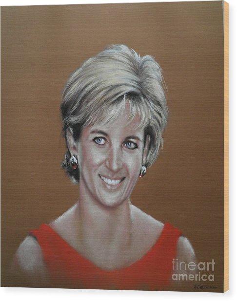Princess Diana Wood Print