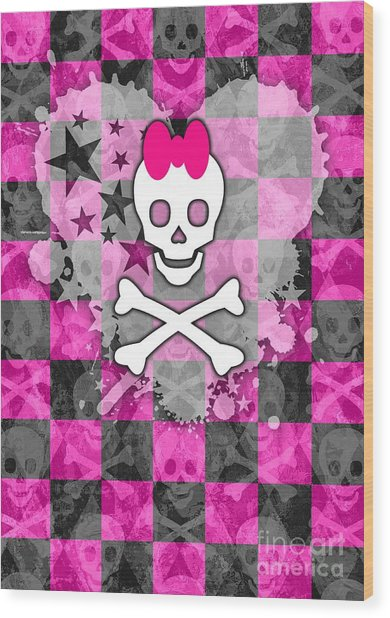 Princess Skull Wood Print