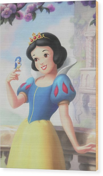 Princess Snow White Wood Print