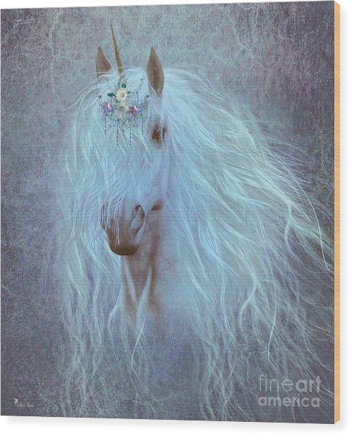 Princess Unicorn Wood Print