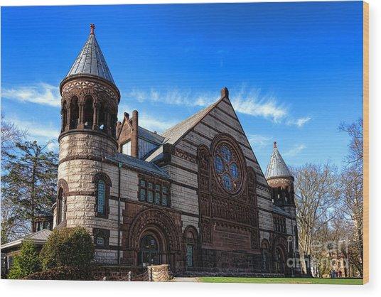 Princeton University Alexander Hall  Wood Print