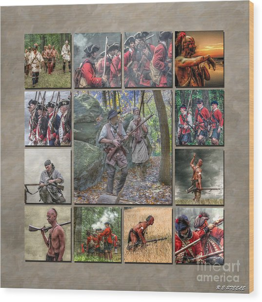 Print Collection French And Indian War Wood Print