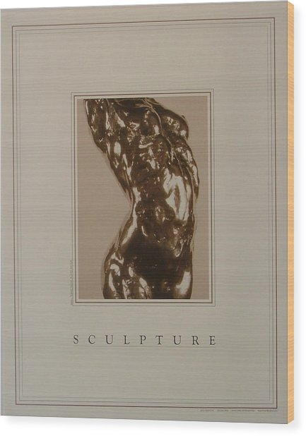 Print Of Sculpture By The Artist Wood Print by Gary Kaemmer