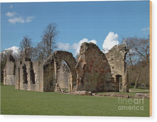Priory Ruins Wood Print