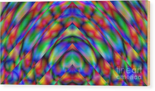 Prisms 339 Abstract Wood Print by Rolf Bertram