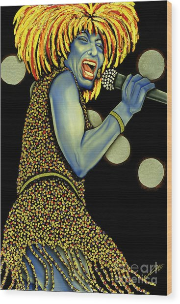 private Dancer Wood Print by Nannette Harris