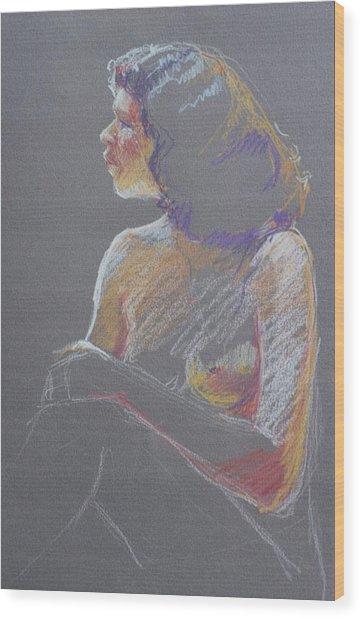 Profile 2 Wood Print