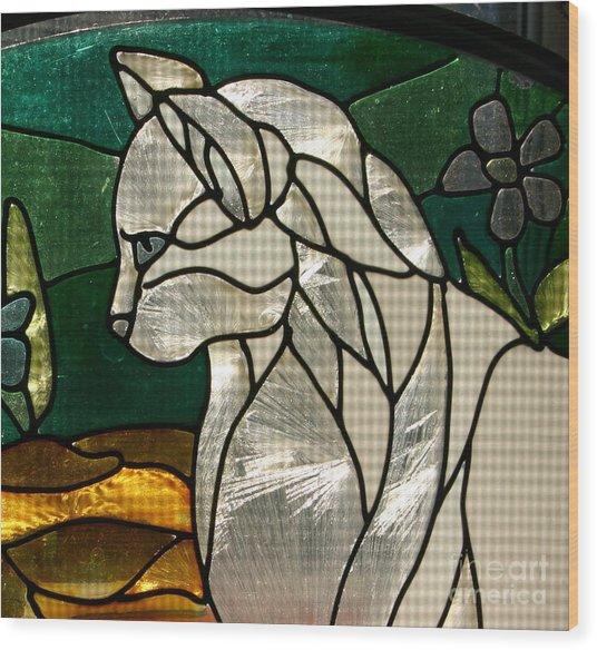Profile Of A Cat Wood Print