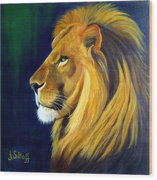 Profile Of The King Wood Print by Janet Silkoff