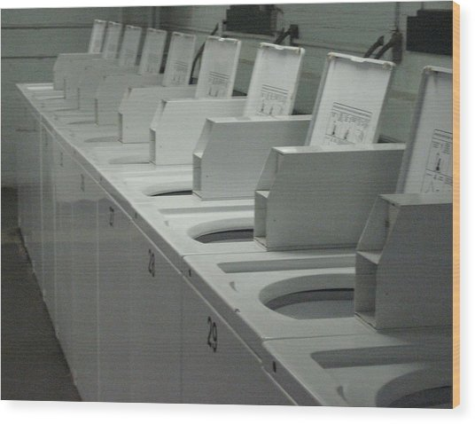 Programmed To Receive Wood Print by Stephen Hawks