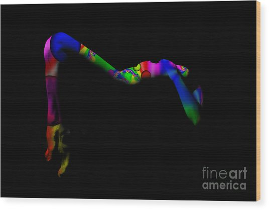 Projected Body Paint 2094947a Wood Print