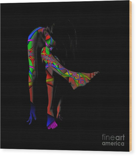 Projected Body Paint 2094973a Wood Print