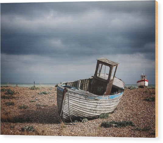 Projekt Desolate The Chase Wood Print by Stuart Ellesmere