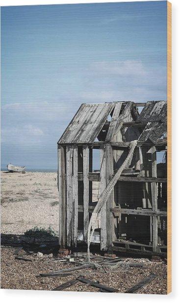 Projekt Desolate The Drive  Wood Print by Stuart Ellesmere