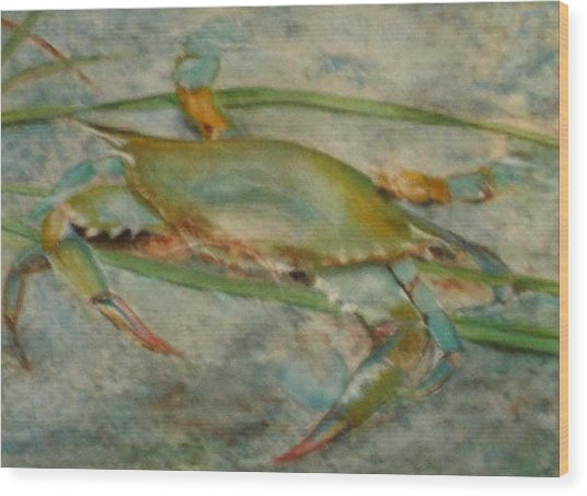 Propa Blue Crab Wood Print