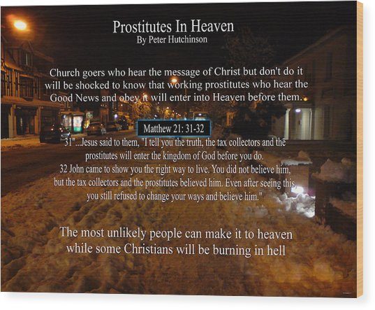 Prostitutes In Heaven Wood Print