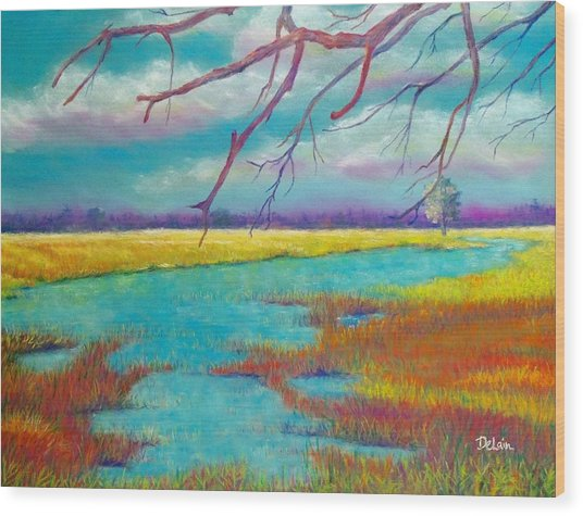 Protect The Wetlands Wood Print