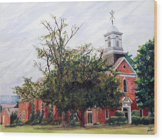 Protestant Chapel At Usmc Camp Lejeune Wood Print