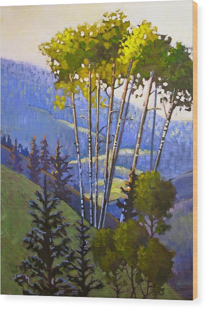 Proud Aspen Wood Print by Susan McCullough