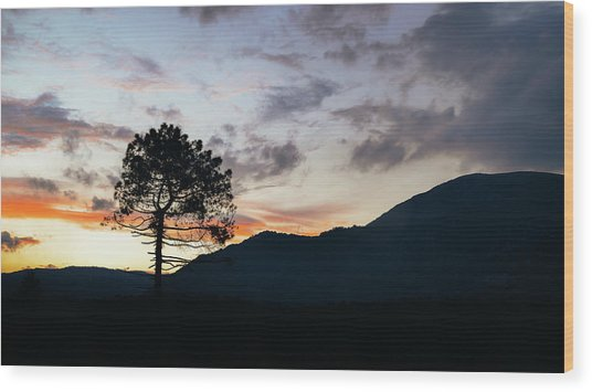 Provence, France Sunset Wood Print