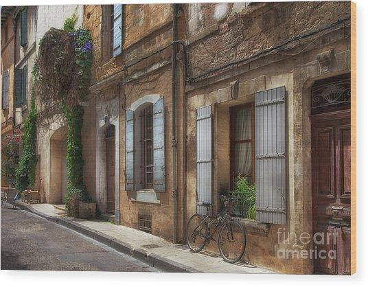 Provence Street Scene Wood Print