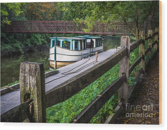 Providence Metropark Erie Canal  Wood Print