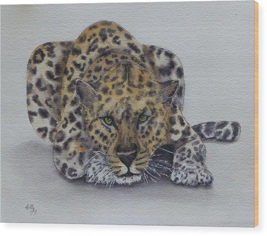 Prowling Leopard Wood Print