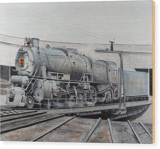 Prr M1 On Turntable Altoona Pa Wood Print by Paul Cubeta
