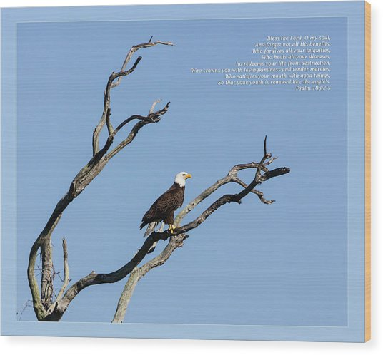 Psalm 103 2-5 Nkjv Wood Print
