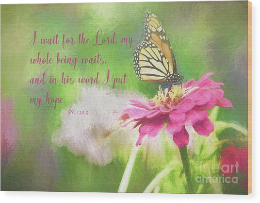 Psalm 130 Wood Print