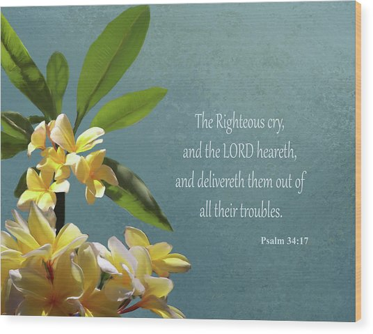 Psalms 01 Wood Print