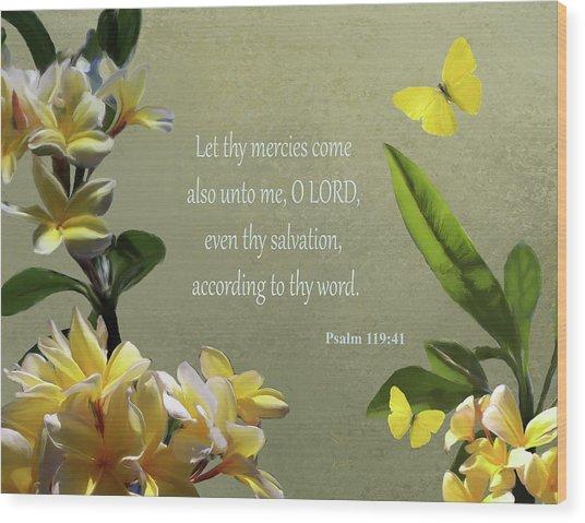 Psalms 02 Wood Print