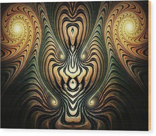 Psuedo God Wood Print by Talasan Nicholson