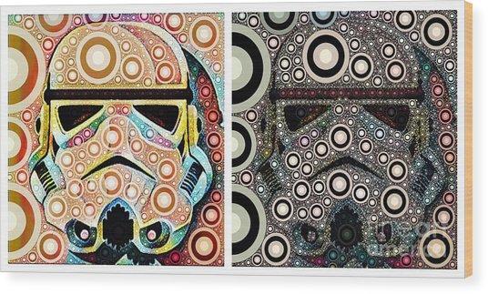 Psychedelic Binom Wood Print