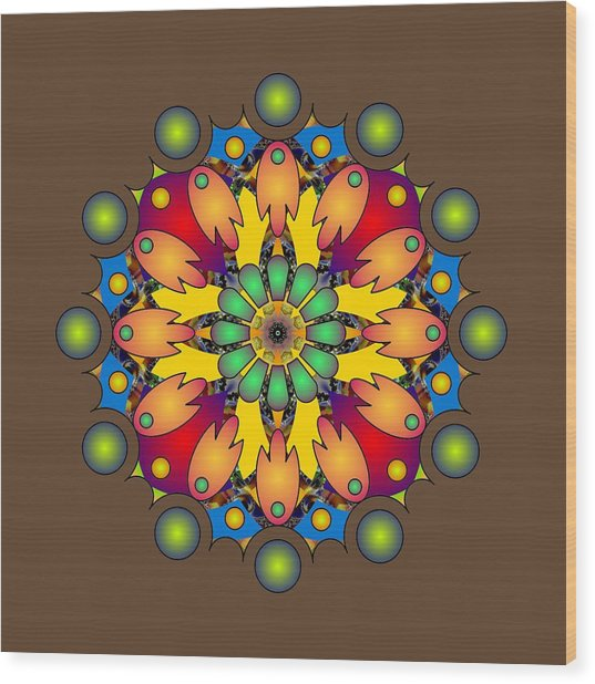 Psychedelic Mandala 009 A Wood Print
